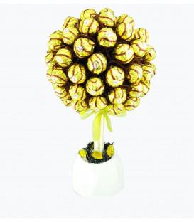 شکلات گلدانی لاکچری رویال شونیز طلایی